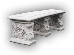 Cast Stone Landscaping Benches