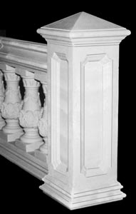 Cast Stone Newel Piers