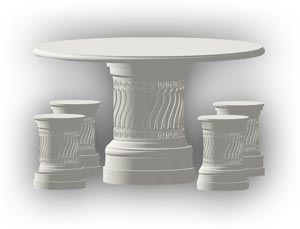 Cast Stone Landscaping Tables